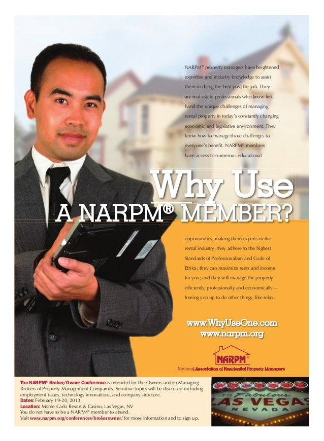 NARPM® property managers have heightened                                                                             exper...