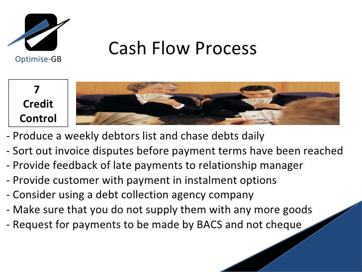 - Produce a weekly debtors list and chase debts daily  - Sort out invoice disputes before payment terms have been reached ...