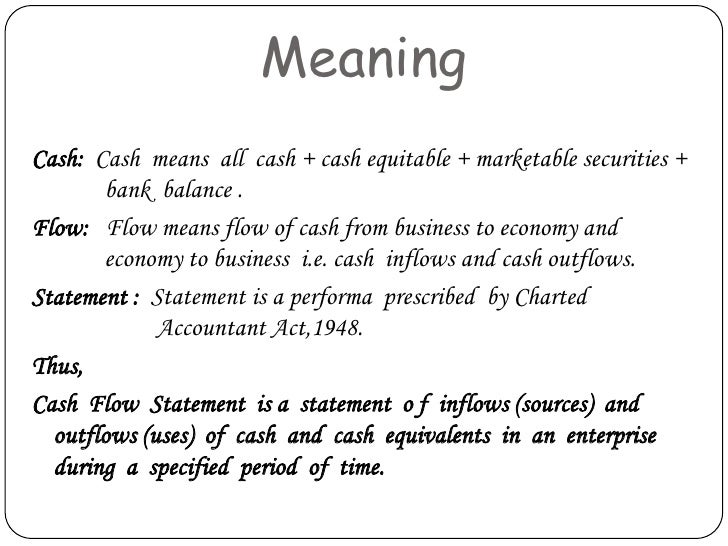 Statement meaning
