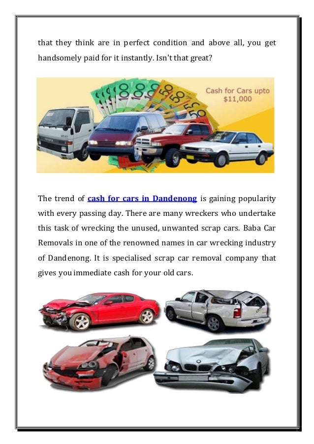Cash for cars dandenong