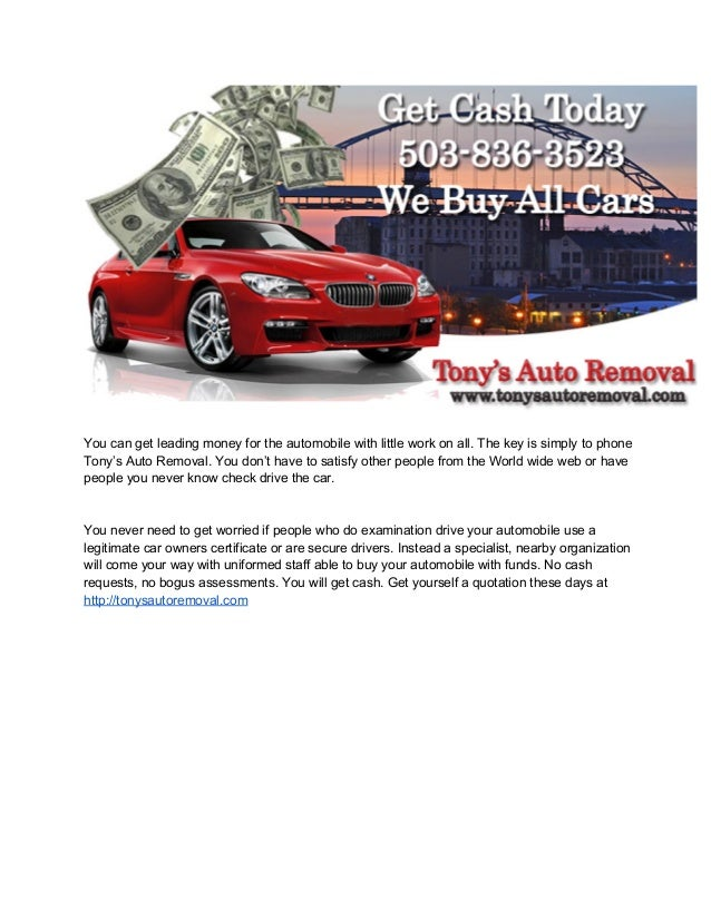 Cash For Cars Portland - Sell Your Vehicle Don\'t Waste Your Money