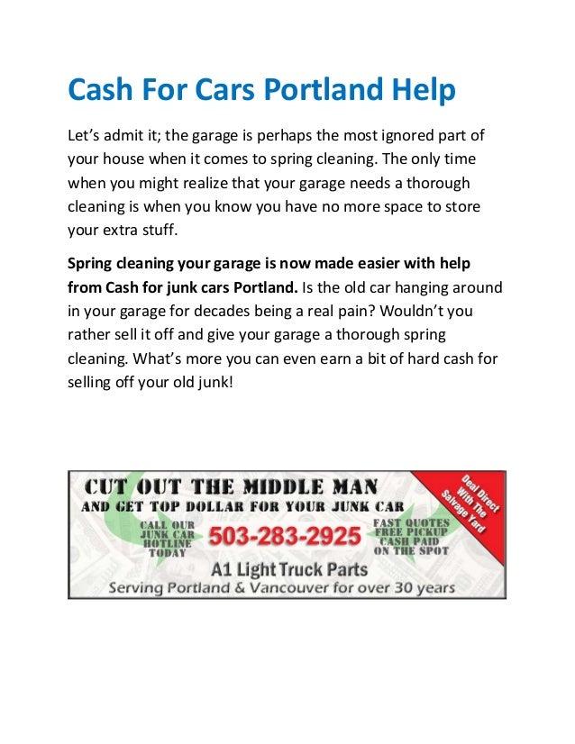 Cash For Cars Portland Oregon - Easy Money For Vehicles