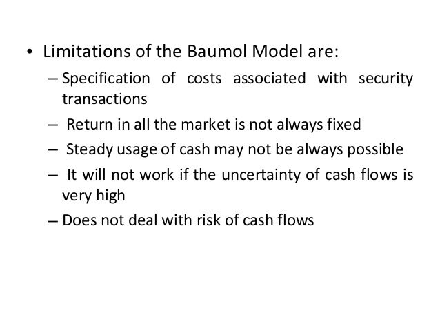 Certainty Model- Beranek Model • Beranek hypothesized that cash inflows are steady, but cash outflows are periodic • Cash ...
