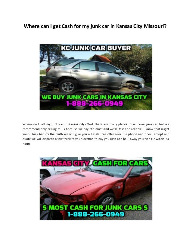 Cash for Junk Cars Kansas City - Sell My Junk Car Kansas City
