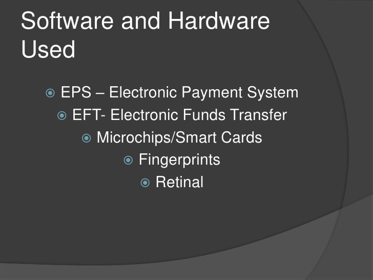 Thesis on electronic payment system