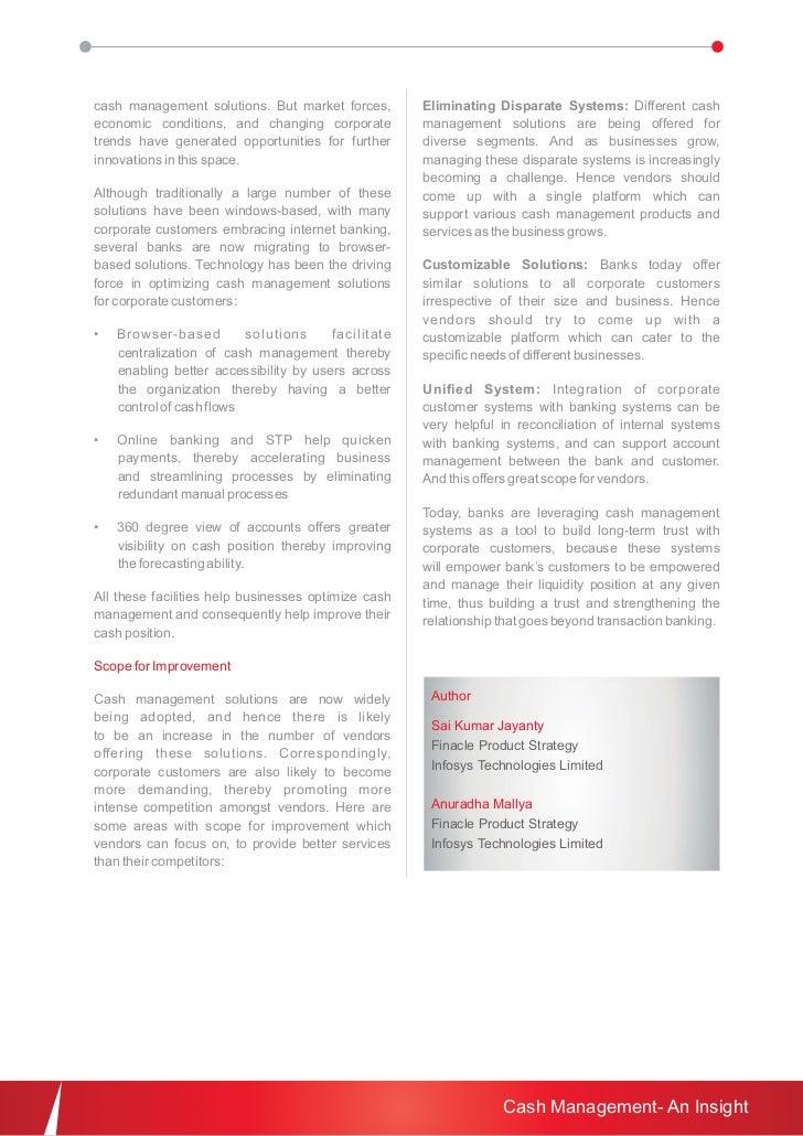 Cash Management - An Insight