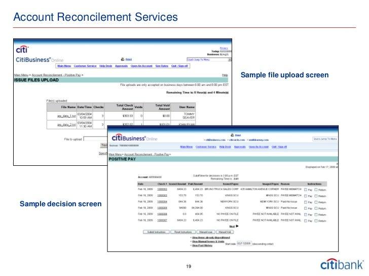 citibusiness online Cash Management - Fasold