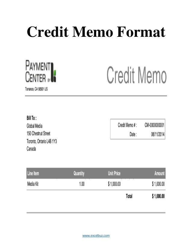 ... Credit Memo Format ...  Cash Memo Format