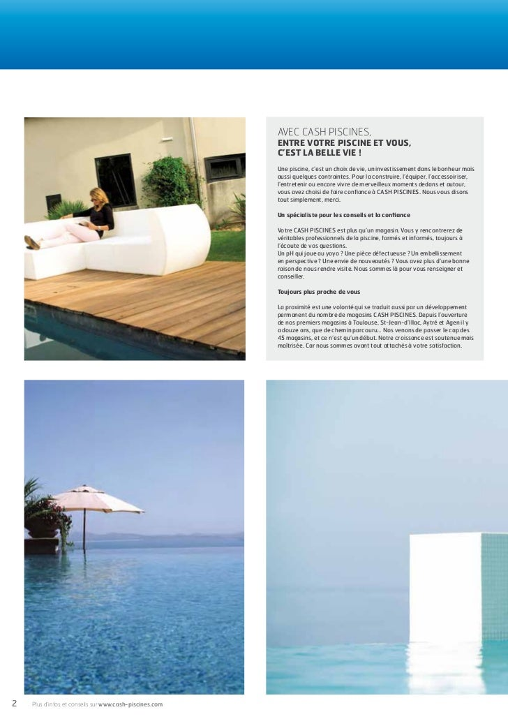 Cash piscines catalogue 2012 equiper sa piscine for Cash piscine la roche sur yon catalogue