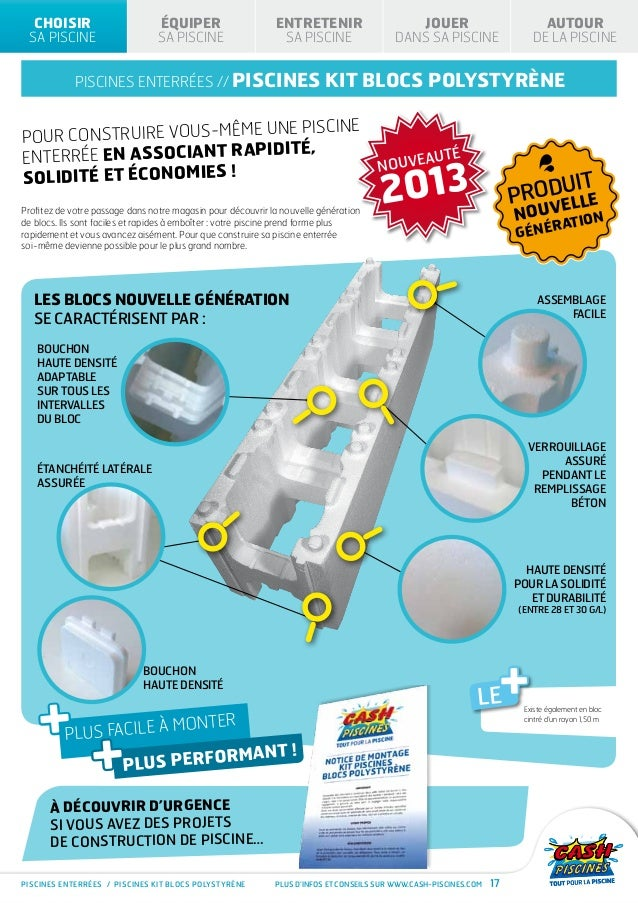 Cash piscines catalogue 2013 - Construire sa piscine prix ...