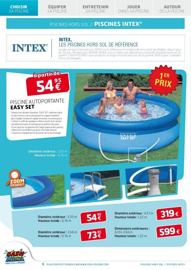 Cash piscines catalogue 2013 for Cash piscine
