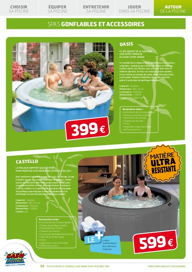 Cash piscines catalogue 2013 autour de sa piscine for Cash piscine oloron
