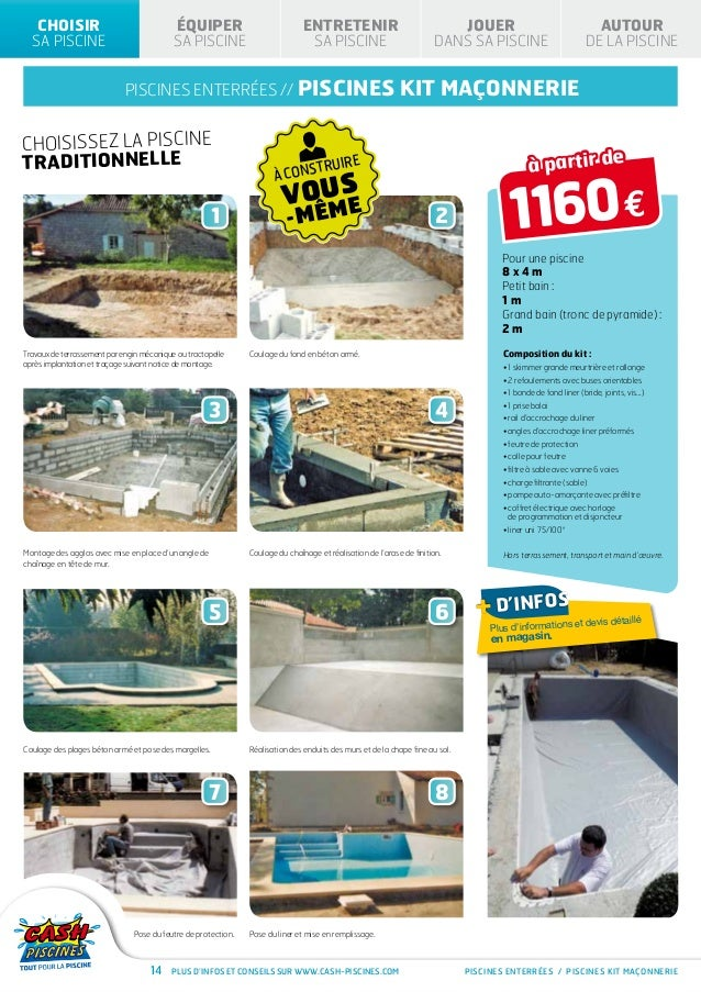 Cash piscines catalogue 2013 choisir sa piscine for Liner cash piscine