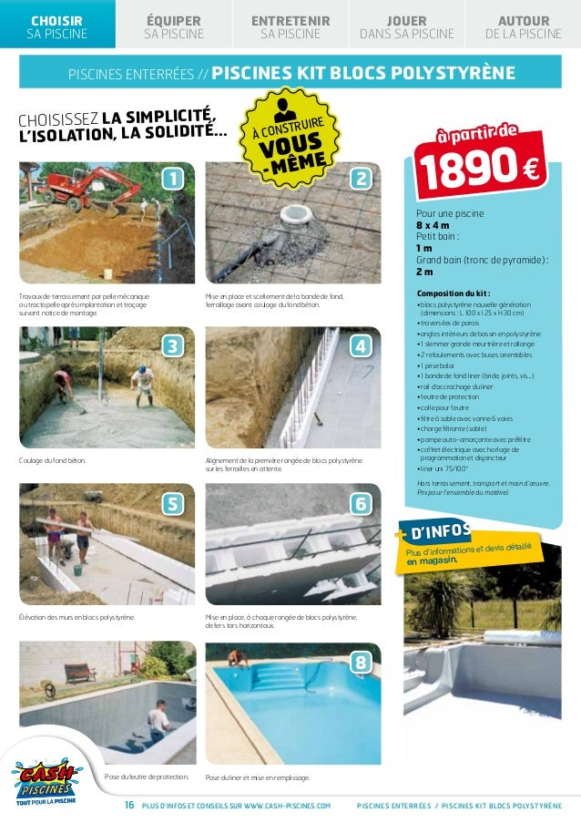 Cash piscines catalogue 2013 choisir sa piscine for Cash piscine kit