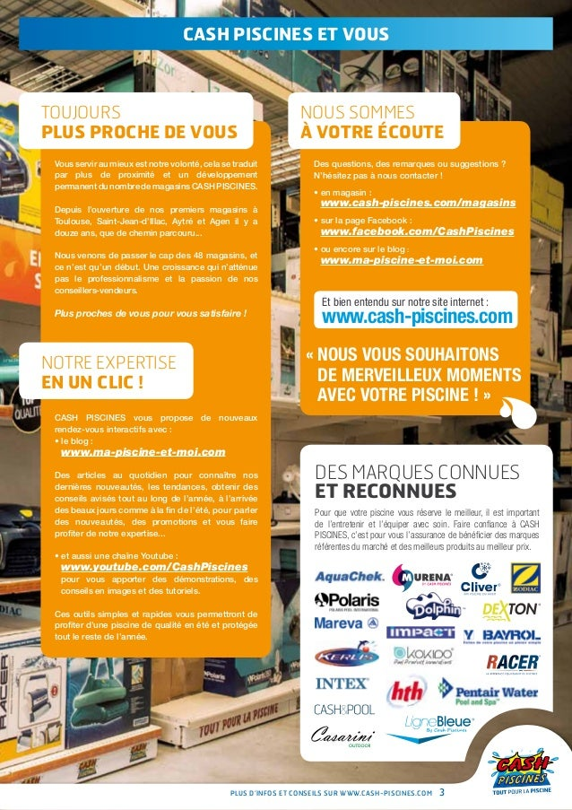 Cash piscines catalogue 2013 equiper sa piscine for Cash piscine agen