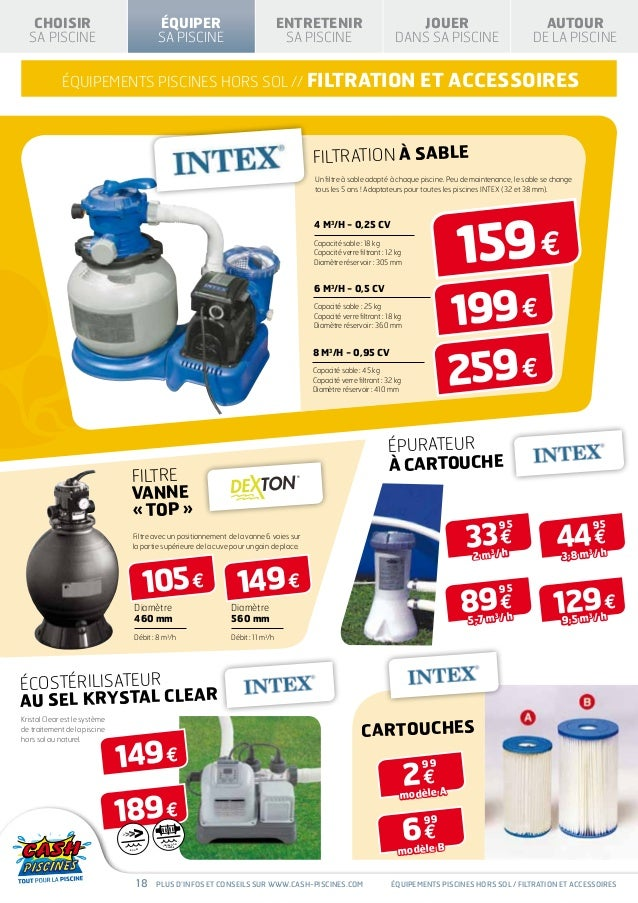Cash piscines catalogue 2013 equiper sa piscine for Cash piscine 71