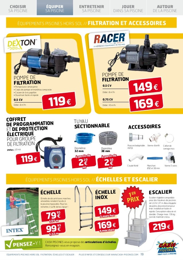 Cash piscines catalogue 2013 equiper sa piscine for Catalogue piscine