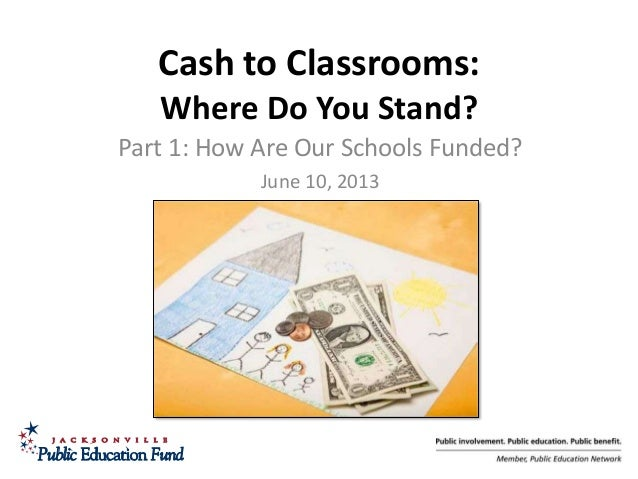 1 Cash to Classrooms: Where Do You Stand? Part 1: How Are Our Schools Funded? June 10, 2013
