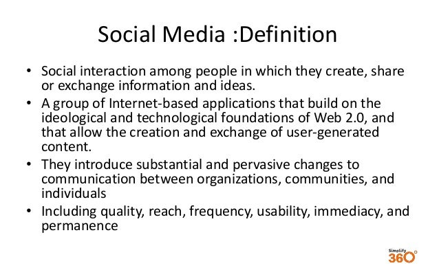 defining social media Blogger: mike gotta (cross-post from collaborative thinking) in an earlier post on social computing, i attempted to illustrate how i look at the topic and break social computing down into several sub-categories (eg, social media, social networking), and the role.