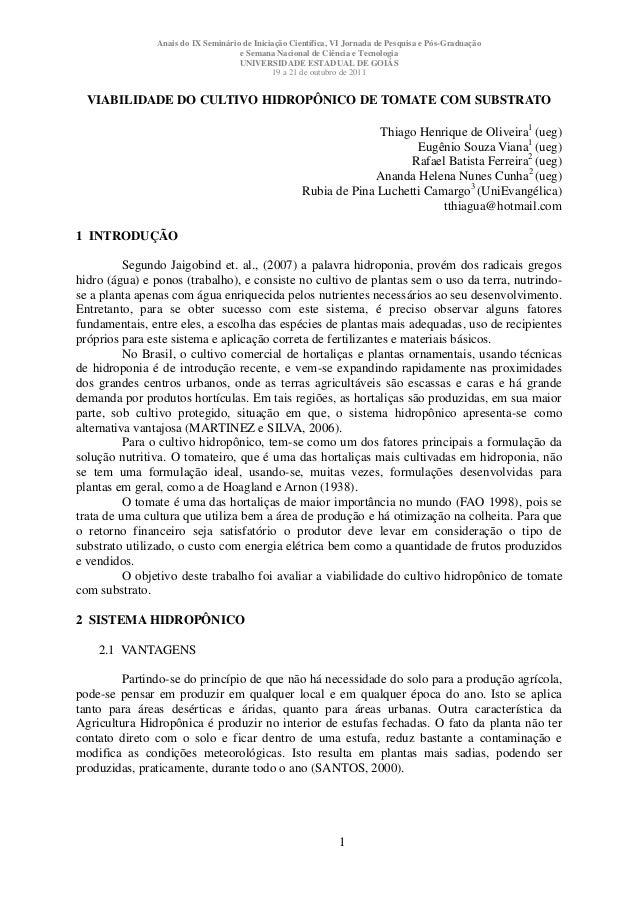 Anais do IX Seminário de Iniciação Científica, VI Jornada de Pesquisa e Pós-Graduação e Semana Nacional de Ciência e Tecno...