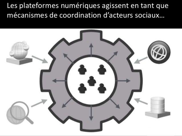 Les plateformes numériques agissent en tant que mécanismes de coordination d'acteurs sociaux…