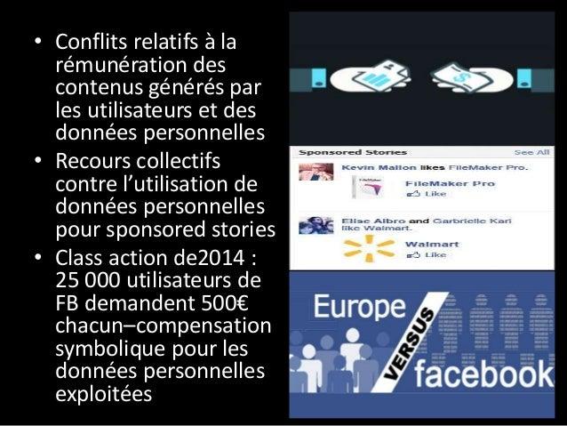 • Conflits qui peuvent se manifester sous forme de collectivisation forcée de données des plateformes (leaking) • Actions ...