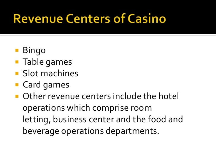 Casino and gaming industry Slide 2