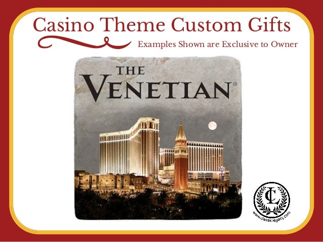 Casino Theme Custom Gifts Examples Shown are Exclusive to Owner