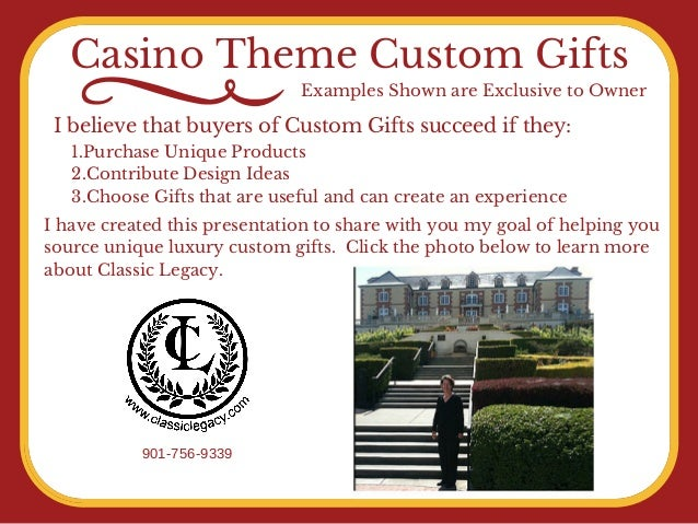 Casino custom gifts by Classic Legacy Custom Gifts Slide 2