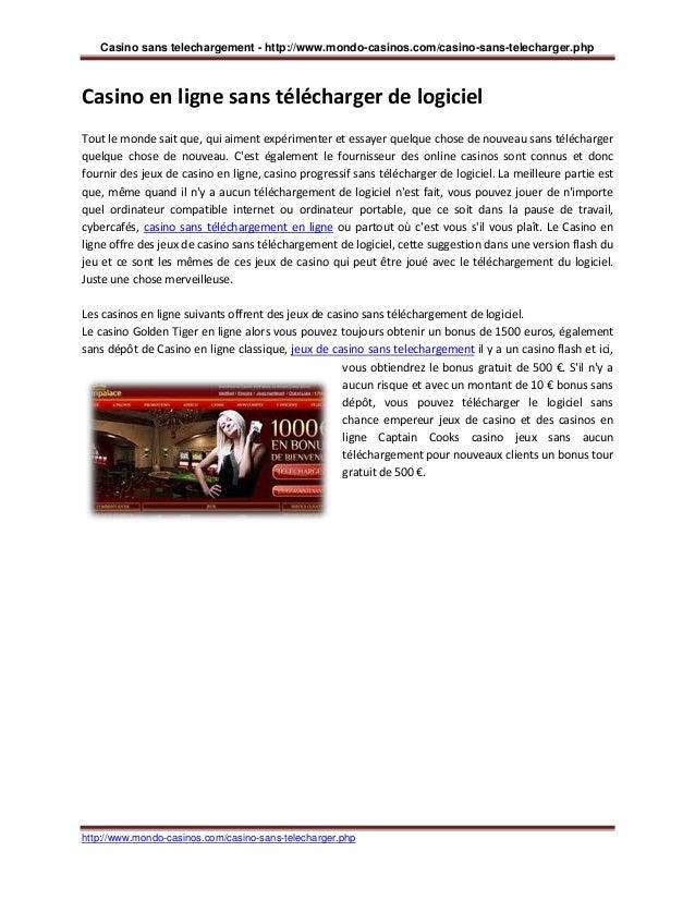Casino Gratuit En Ligne Sans Telechargement