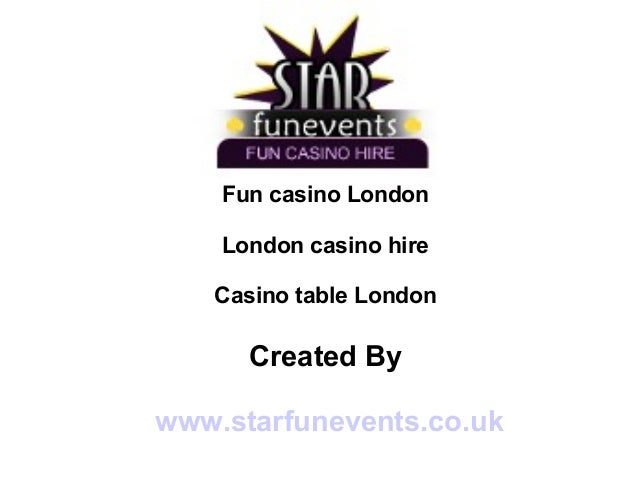 Casino tables to hire london