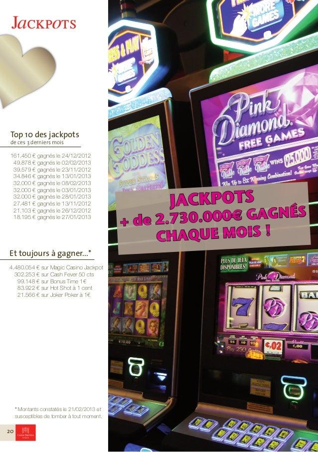 FacebookRejoignez-nous !Pour être informé de tout ce qui sepasse au Casino, voir les photos denos évènements... devenez fa...