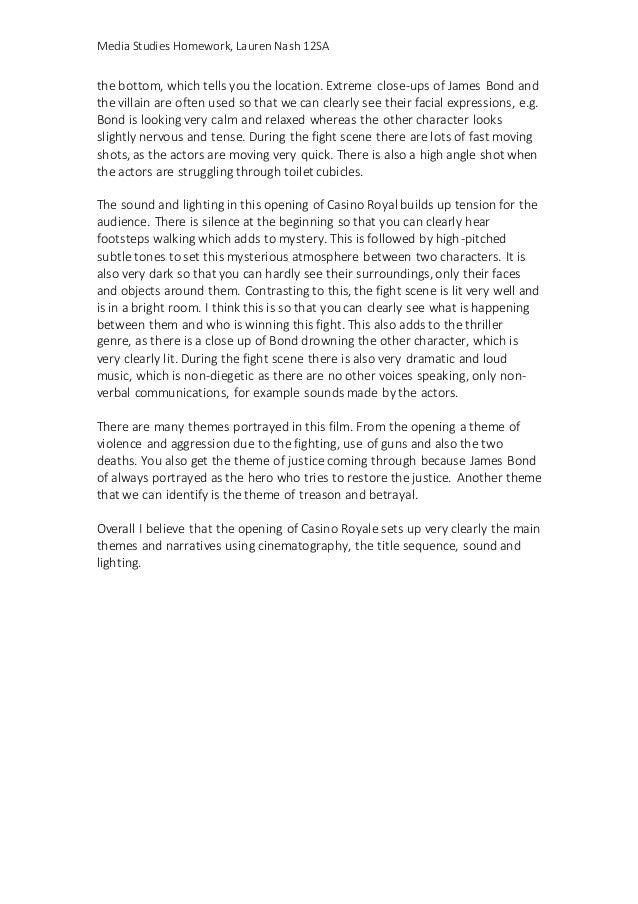 Casino royale essay foxwoods casino online