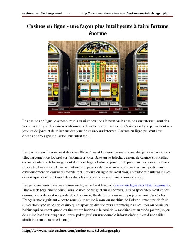 casino sans téléchargement - http://www.mondo-casinos.com/casino-sans-telecharger.php  http://www.mondo-casinos.com/casino...