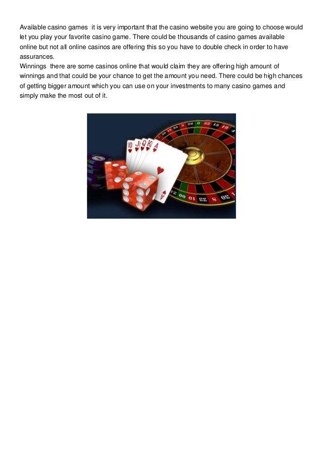 Casino Sites Slide 2