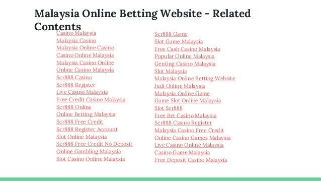 Casino Slot Games Malaysia