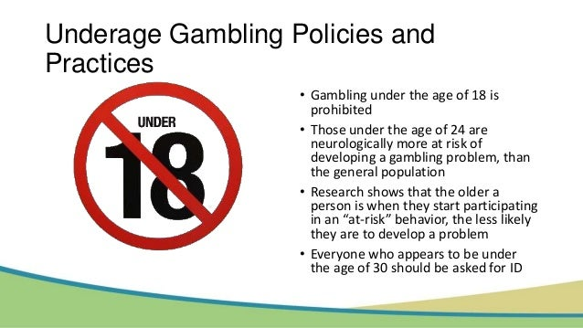 Support underage gambling gambling system