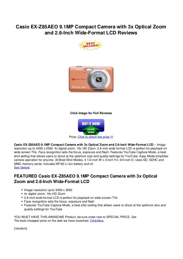 Casio ex z85-aeo_9 1mp_compact_camera_with_3x_optical_zoom_and_2 6-in…