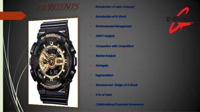swot analysis for g shock watch from casio essay What is a swot analysis it is a way of evaluating the strengths, weaknesses, opportunities, and threats that affect something see wikiwealth's swot tutorial for help  remember, vote up the most important com.