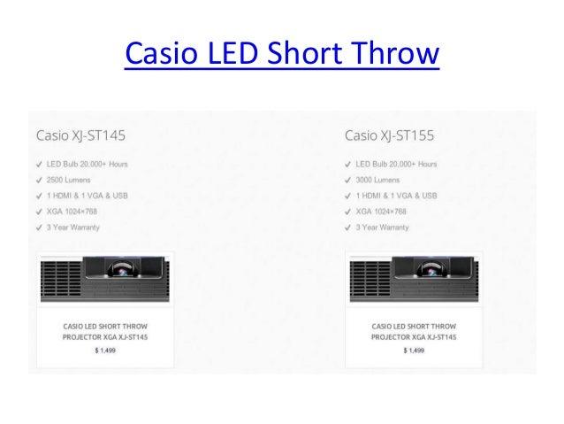 Casio LED Projectors 2014