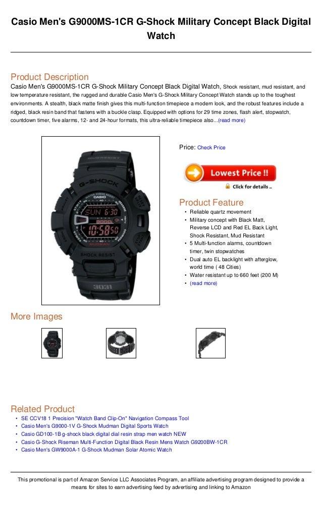3a05beca05c Casio men s g9000 ms 1cr g-shock military concept black digital watch