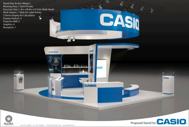 Exhibition Stand Reception Desk : Casio exhibition stand