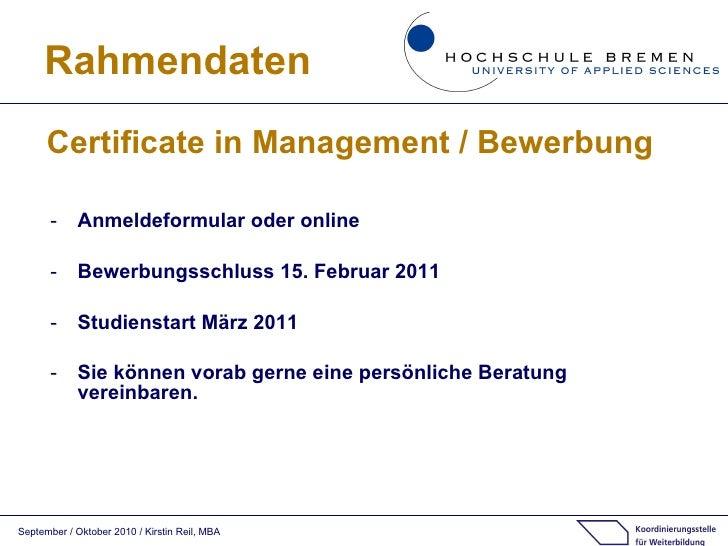 15 - Hochschule Bremen Bewerbung