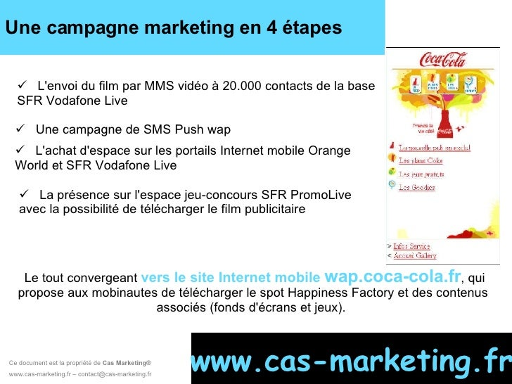 Ce document est la propriété de  Cas Marketing ®   www.cas-marketing.fr – contact@cas-marketing.fr www.cas-marketing.fr <u...
