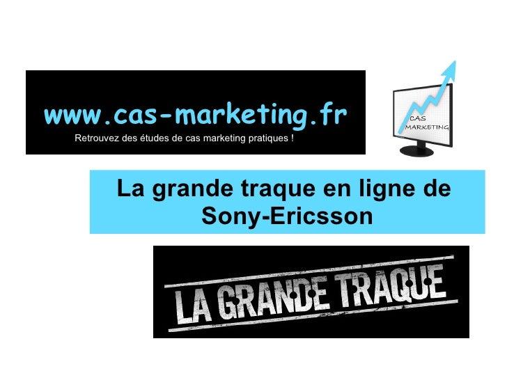 La grande traque en ligne de  Sony-Ericsson www.cas-marketing.fr Retrouvez des études de cas marketing pratiques !