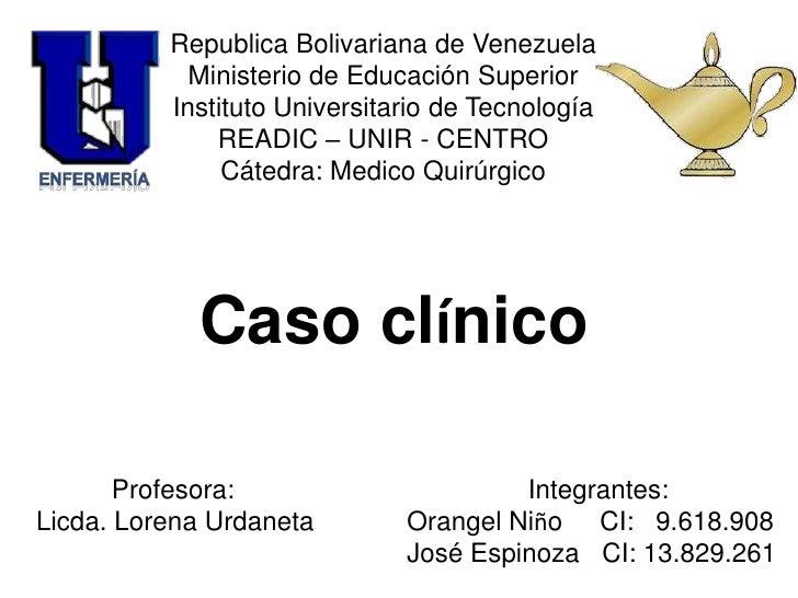 Republica Bolivariana de Venezuela<br />Ministerio de Educación Superior<br />Instituto Universitario de Tecnología<br />R...