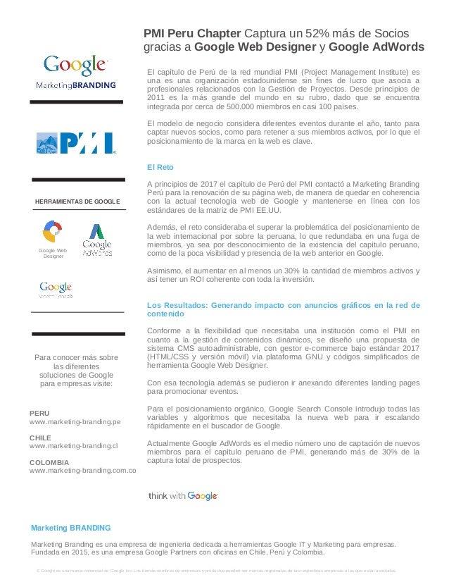 PMI Peru Chapter Captura un 52% m�s de Socios gracias a Google Web Designer y Google AdWords � Google es una marca comerci...
