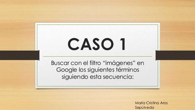 """CASO 1 Buscar con el filtro """"imágenes"""" en Google los siguientes términos siguiendo esta secuencia: María Cristina Aros Sep..."""