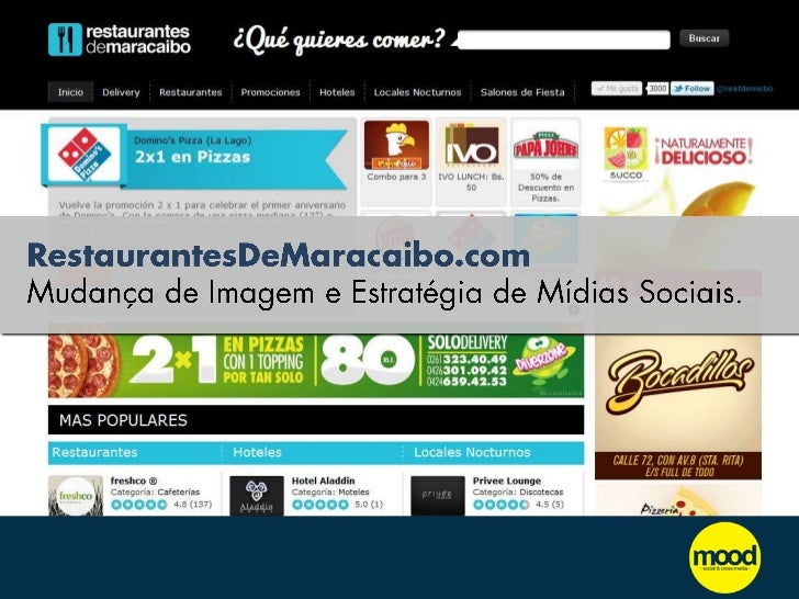 RestaurantesDeMaracaibo.com Mudança de Imagem e Estratégia de Mídias Sociais