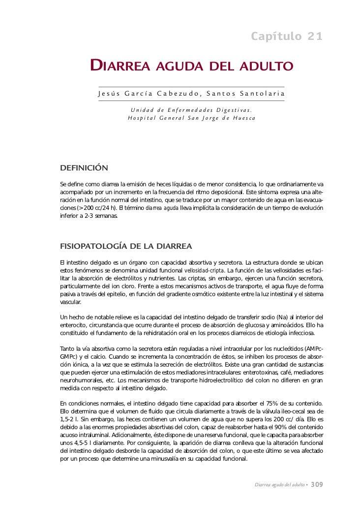 Capítulo 21            DIARREA                     AGUDA DEL ADULTO                Jesús García Cabezudo, Santos Santolari...